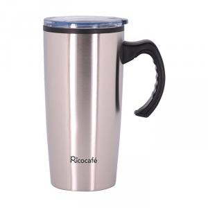 Taza de café de pared doble de acero inoxidable 20 oz con mango
